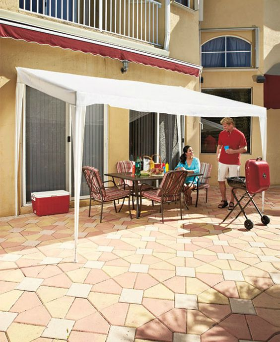 Portable Patio Awnings : Pop up canopy tent outdoor shade portable awning gazebo