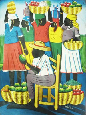 business card inspiration - This is a collection of oil paintings by Haitian artists. The paintings depicts the people, daily life and the beautiful natural environment of the country.     The artists use of colors and subject matters to express their love and connection to Haiti.     These paintings are on charity sale to raise funds to help the Haitian people, half of the proceeds will goes to help rebuilding communities in Haiti.