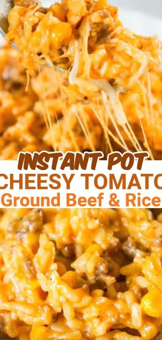Instant Pot Cheesy Ground Beef And Rice Is An Easy Pressure Cooker Ground Beef And Rice Recipe Loaded In 2020 Slow Cooker Beef Stew Crockpot Pulled Pork Beef And Rice