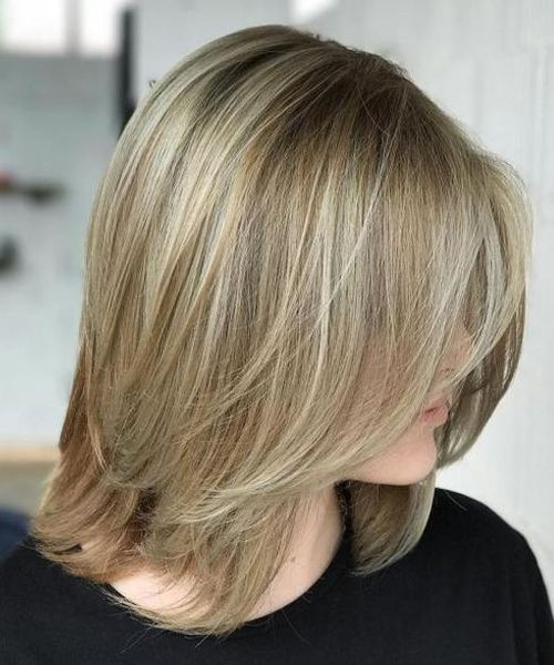 Dashing Shoulder Length Straight Blonde Hairstyles 2018 For