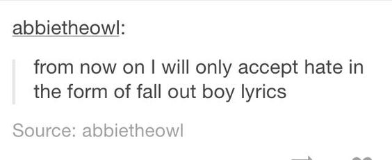 This sounds like a fob lyric