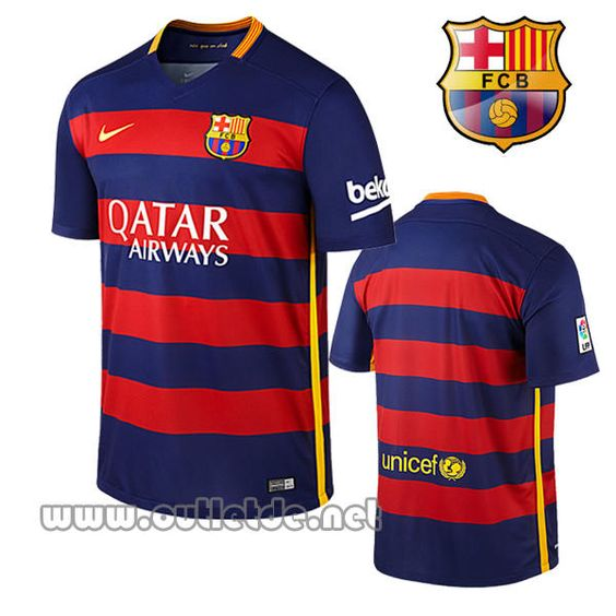 nouveau maillot fc barcelone 2015 2016 domicile fc barcelone site officiel boutique. Black Bedroom Furniture Sets. Home Design Ideas