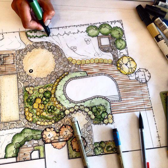 Landscapedesign Architecture Rendering Illustration