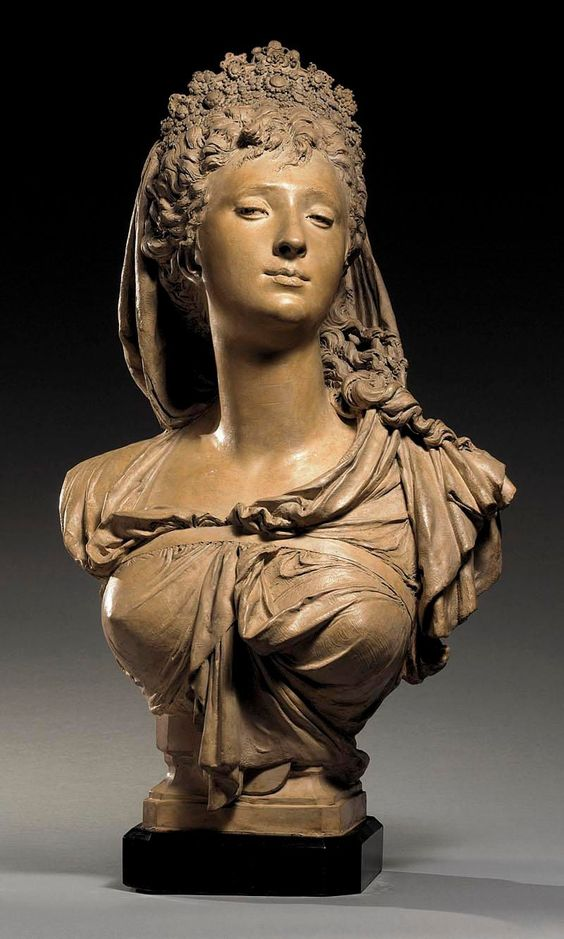 BUST OF A WOMAN, POSSIBLY MARGUERITE BELLANGER By Albert-Ernest Carrier-Belleuse