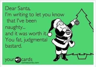 Santa - judgmental bastard
