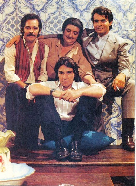 Zilka Salaberry com Tarcísio Meira, Cláudio Marzo e Cláudio Cavalcanti - IRMÃOS CORAGEM