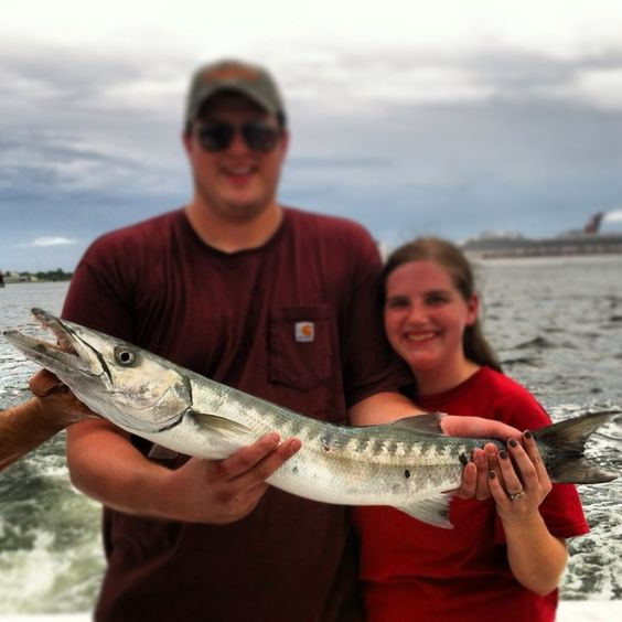 Barracuda Where did you catch it? pompano beach Fl What did you catch it with? shimano SS, braided wire fishing off the Atlantic coast near an undisclosed lighthouse, snagged this Monster from the depths.. Fun fighting and fish is mounted at the dock...
