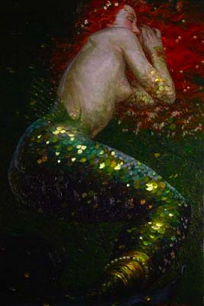 mermaid paintings<3