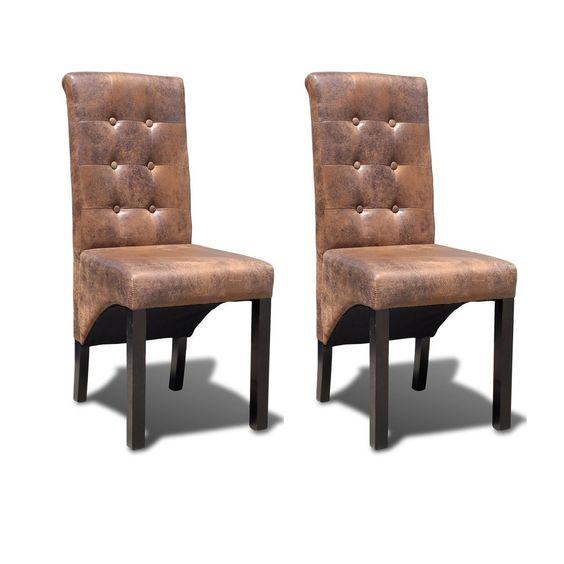 4 X Lederstühle Sessel Esszimmerstühle Sperrholz Leder Stuhl Stühle Braun  #Ssparen25.com , Sparen25.de , Sparen25.info   Preisvergleich   Pinterest