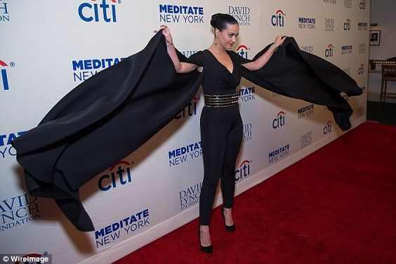 Showing off: The star made sure her lavish sleeves were not missed