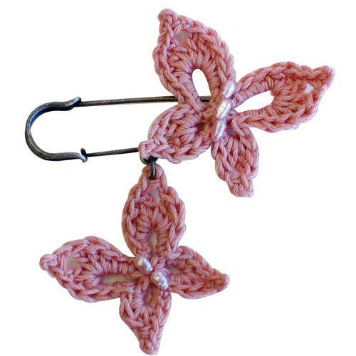 Crochet Butterfly Pins - Pattern ❥ 4U hilariafina  http://www.pinterest.com/hilariafina/