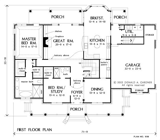 Basement Stair Designs Plans: Like Porch To Basement Stair First Floor Plan Of The