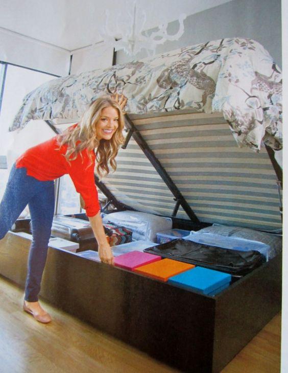 Secret Storage Under A Hydraulic Bed West Elm Or