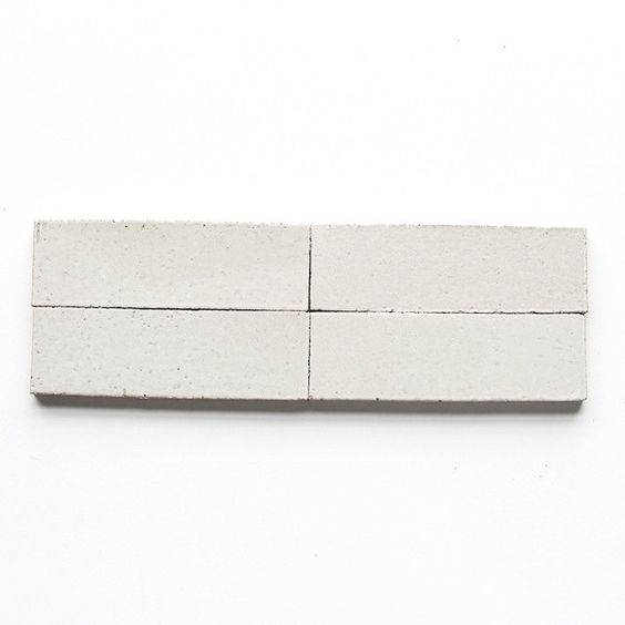 """think white subway tilesare the hottest tile trend of the moment? guess again! check out clé paper, ourgloss whitethin glazed brick in 2 1/2"""" x8"""". it's brigh"""