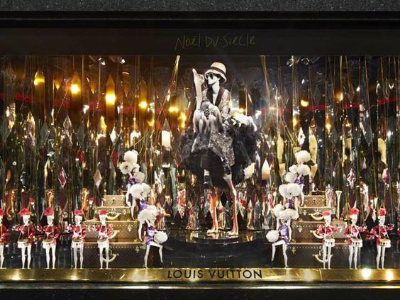 Louis Vuitton window display at Galeries Lafayette