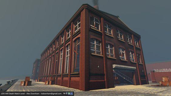 ArtStation - UDK Mill Death Match Level, Alex Downham