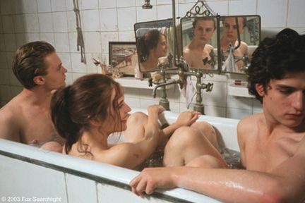 The Dreamers. one of my favorite scene ever, makes me wanna bath with two beautiful french boys. ugh.