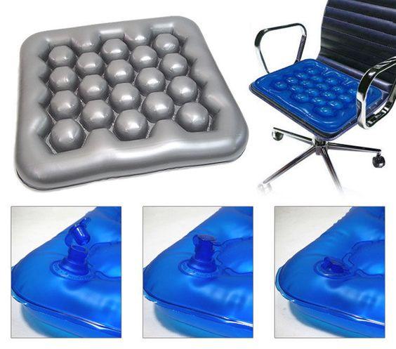 air u0026 water inflatable seat cushion for wheelchairs u0026 office chairs air pressure cushions provide - Office Chair Seat Cushion
