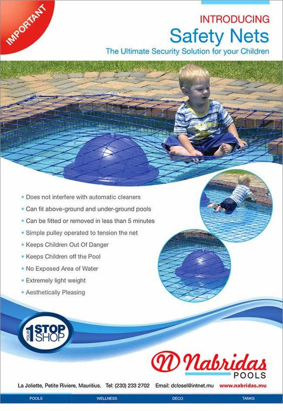 Nabridas pools introducing safety nets the ultimate security solution for your children info for Child alarm for swimming pools
