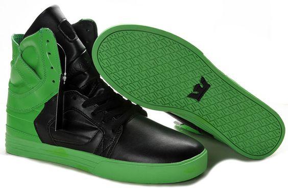 http://www.suprafootwearoutletonline.info/supra-skytop-ii-high-tops-style-blackgreen-p-40.html         Supra Skytop II High Tops Style Black/Green