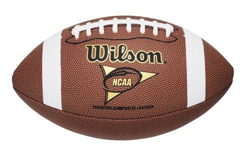 Wilson F1730 NCAA Tackified Composite Game Football (Full Size) by Wilson. Save 6 Off!. $30.00. Official Football of the National Collegiate Athletic Association, NCAA, College, BCS and Bowl Championship Series. This ball has premium composite leather for better grip. Wilson NCAA Game Ball Replica Football Features: Material Type: composite leather Official size and weight. Deeper pebbles and firmer texture Style number WTF1730