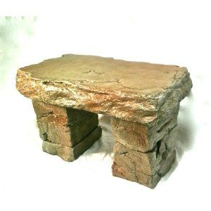 Garden Bench Cast Stone Granite Rock Bench 3 Piece Patio Furniture Concrete Bench Hand