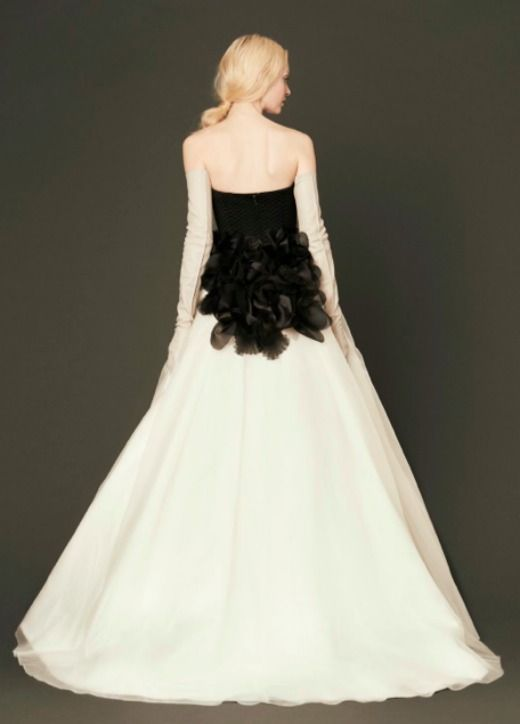 New Vera Wang Wedding Dresses: Or, What's Black and White and Leather All Over? Here Are Some of My Faves!: Save the Date: glamour.com