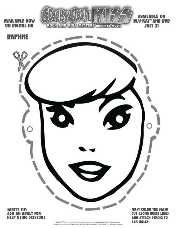 Free Printable Scooby Doo Daphne Mask