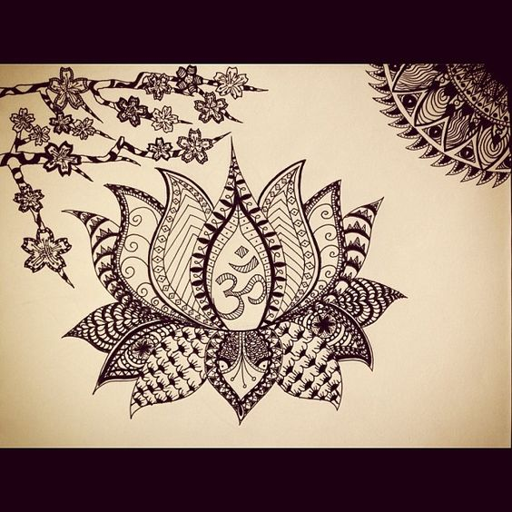 Zentangle Flower Tattoo Fast Friday Fabric Cha...