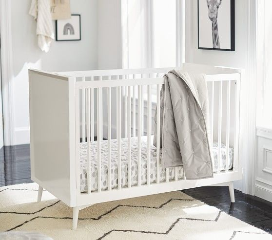 West Elm X Pbk Mid Century Convertible Crib In 2020 Cribs Mid Century Nursery Convertible Crib