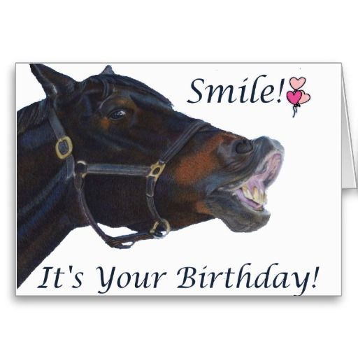 Happy Birthday Hunter/Jumper Greeting Card Colorful birthday card for the equestrian in your life. Personalize the inside of the card to your needs! #funny #horse: