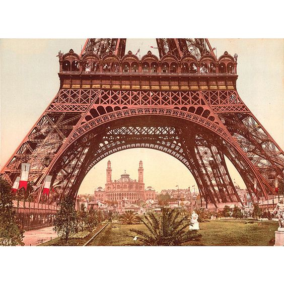 Great Buildings Image - Eiffel Tower ❤ liked on Polyvore featuring backgrounds, paris, pictures, photos en places