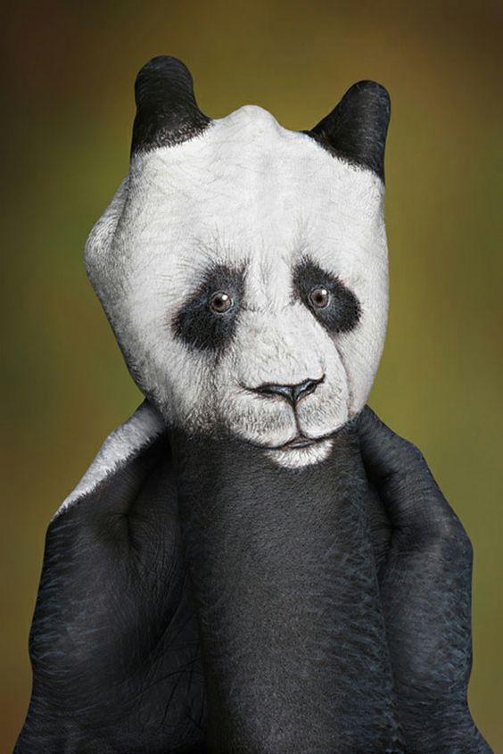 moderne kunst panda bär