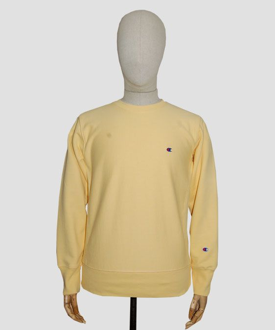Champion Reverse Weave Crewneck Sweatshirt Canary Yellow | Threads ...