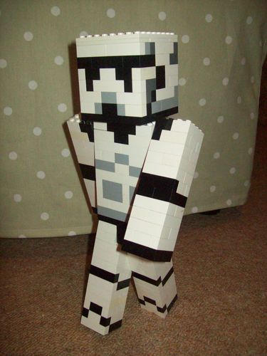 Lego Minecraft Custom Built Star Wars Stormtrooper Skin Figure with Instructions | eBay