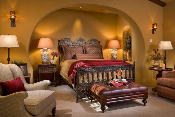 Spanish bedrooms and master bedrooms on pinterest for Spanish style bed