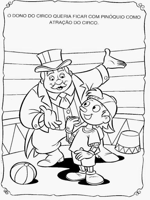 Historinha De Pinoquio Para Pintar Colorir Imprimir Historia De