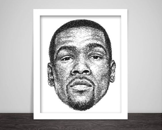 scribbled Kevin Durant by ScribbleZone on easy.com
