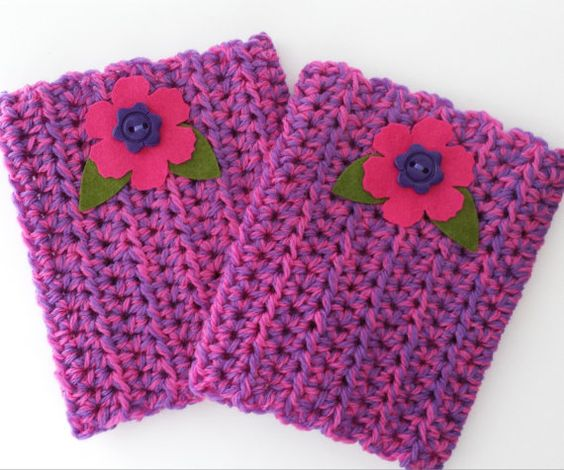 Boot cuff leg warmers crochet and blocked Girls by UtahWraps