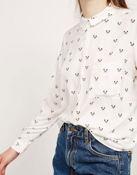 Camisa BSK botões nas costas - Camisas - Bershka Portugal