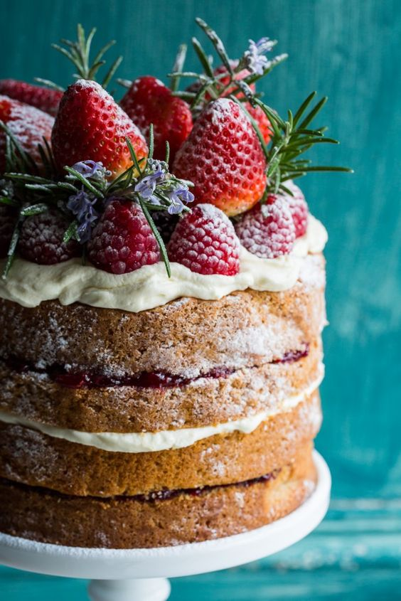 Buckwheat Cake with Berry Compote and 'Love, Aimee x' Giveaway