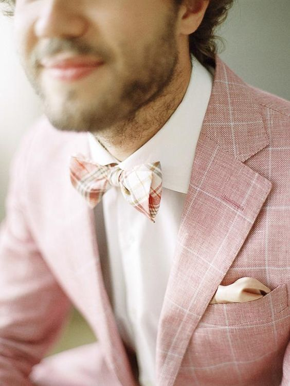 style | pink groom's attire | via: magnolia rouge