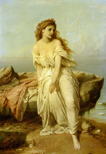 Miranda from The Tempest (Shakespeare)(Thomas Francis Dicksee).