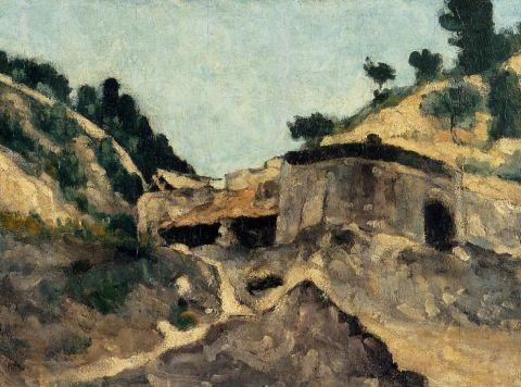 paul cezanne, Gospodarstwa rolne, Mills, krajobraz z młyna 1871