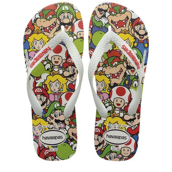 Havaianas Disney Kids Max Heroes Print Flip Flop Sandals Shoe All Sizes
