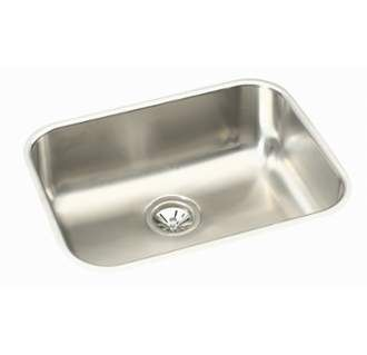 """View the Elkay EGUH211510 Elumina 23-1/2"""" Single Basin 18-Gauge Stainless Steel Kitchen Sink for Undermount Installations with SoundGuard Technology at Build.com."""