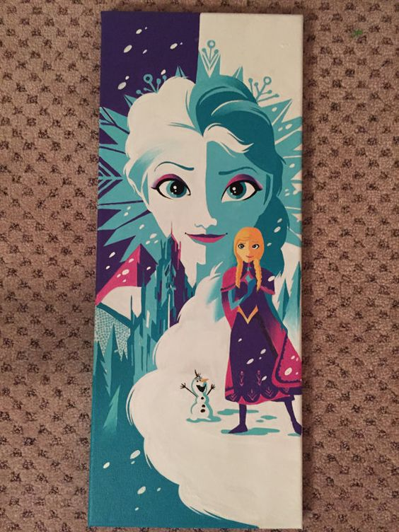 Disney Frozen Acrylic Painting On Canvas Anna By Princess Ideas