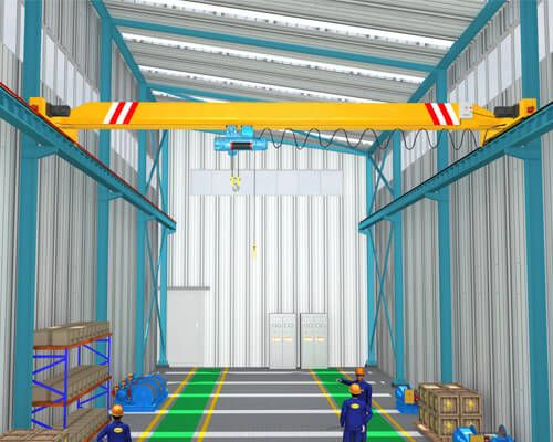 Light Steel Structure Warehouse With Overhead Crane System Steel Structure Steel Frame Construction Steel Structure Buildings