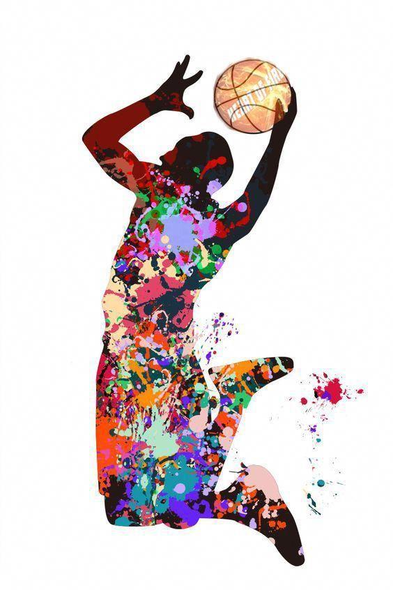 Basketball Skills Basketball Painting Basketball Art Basketball Drawings