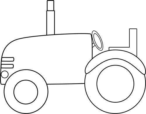 ... White Tractor Clip Art Image